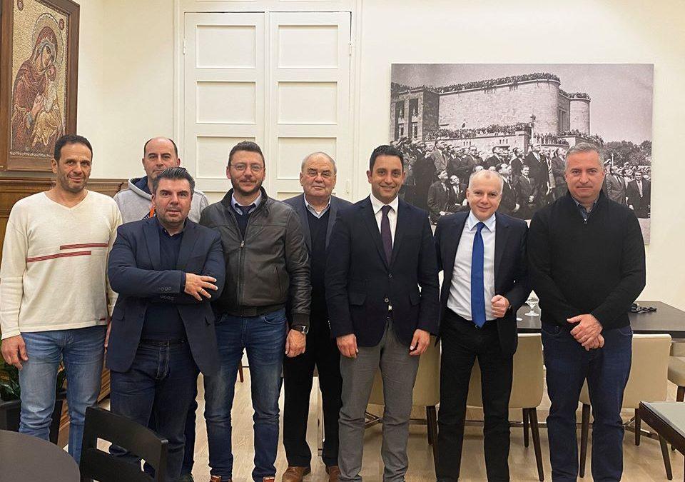 Συνάντηση εργασίας, της Διοικούσας Επιτροπής του ΤΕΕ Δωδεκανήσου με τον Δήμαρχο Ρόδου κ. Αντώνη Καμπουράκη