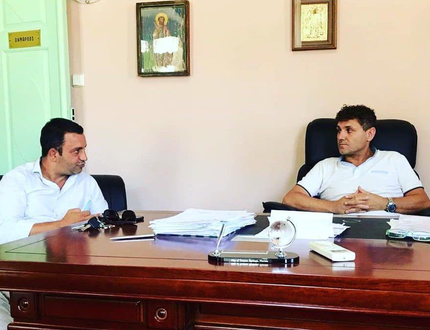 Συνάντηση του Προέδρου του ΤΕΕ Δωδεκανήσου κ. Αντώνη Γιαννικουρή με τον Δήμαρχο Σύμης κ. Λευτέρη Παπακαλοδούκα